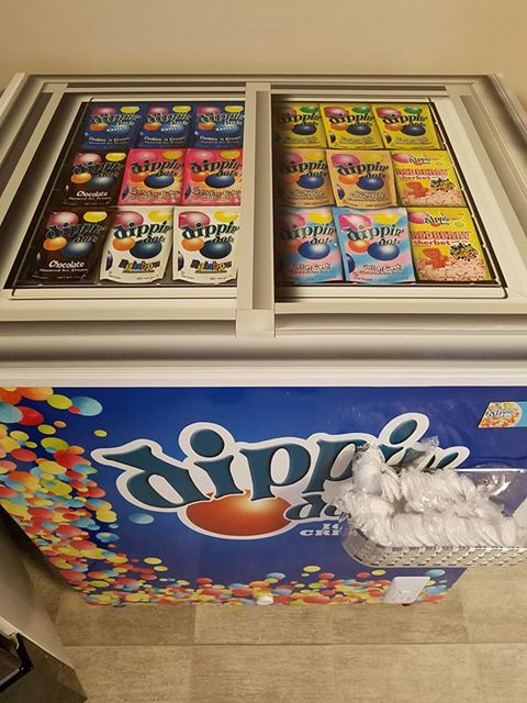 "We have ""dippin' dots"" ice cream!"